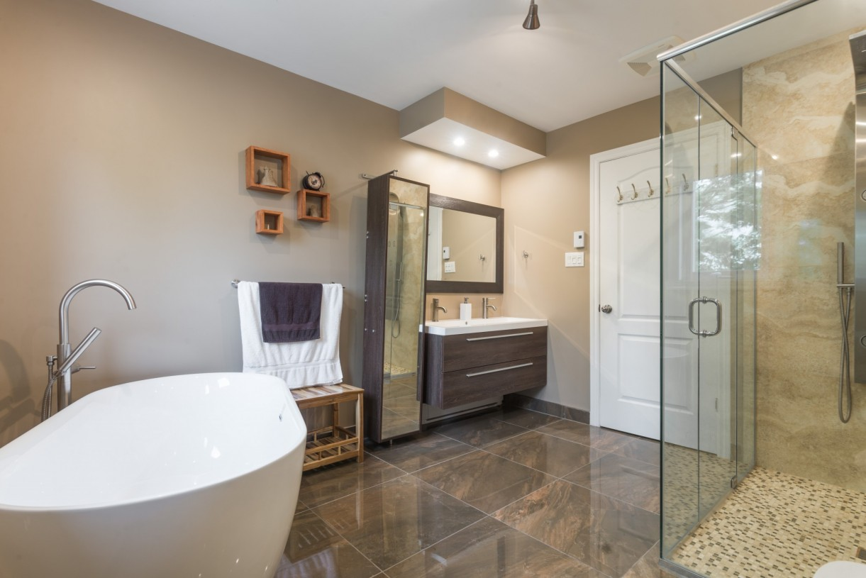 bathroom in a home addition
