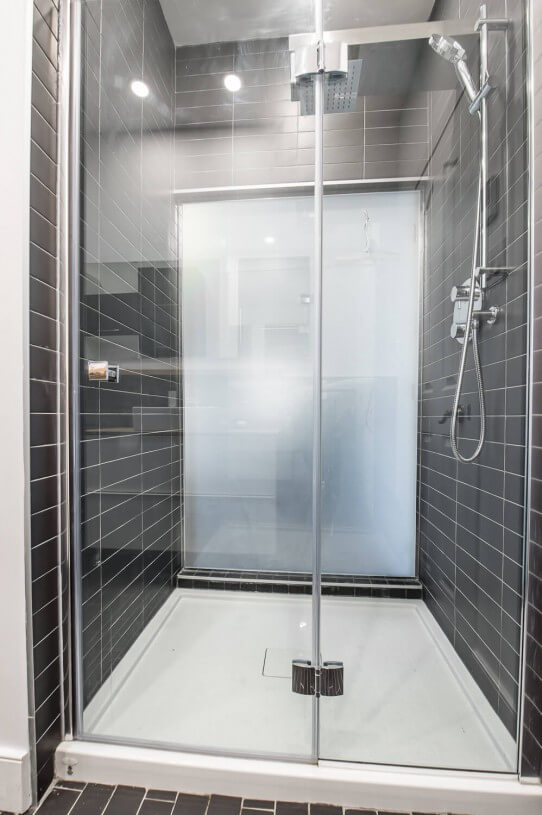 glass panels for a shower
