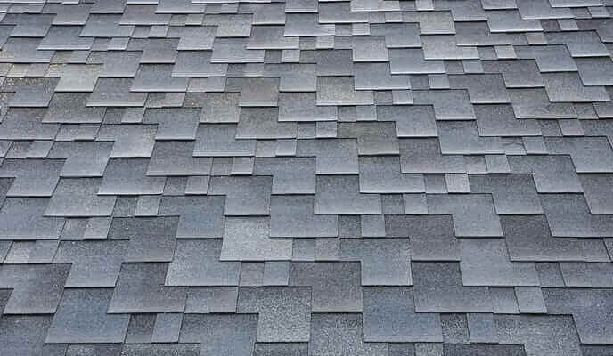 Grey asphalt shingles