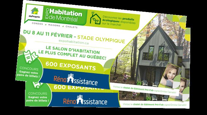Paire de billets Expo Habitation Montréal 2018 - Réno-Assistance