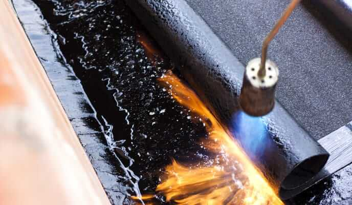 Bitumen Roofing with fire