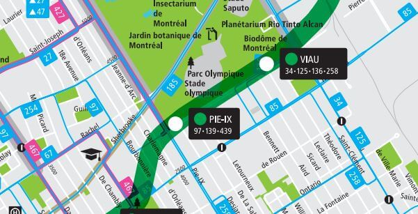 Carte autobus Expo Habitation de Montréal