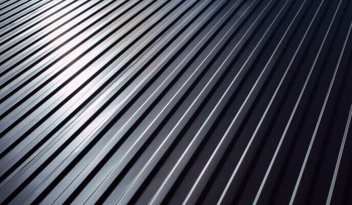 Black metal or steel roof