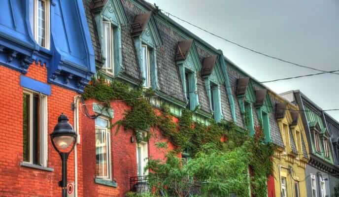Montreal cityscape - brick houses