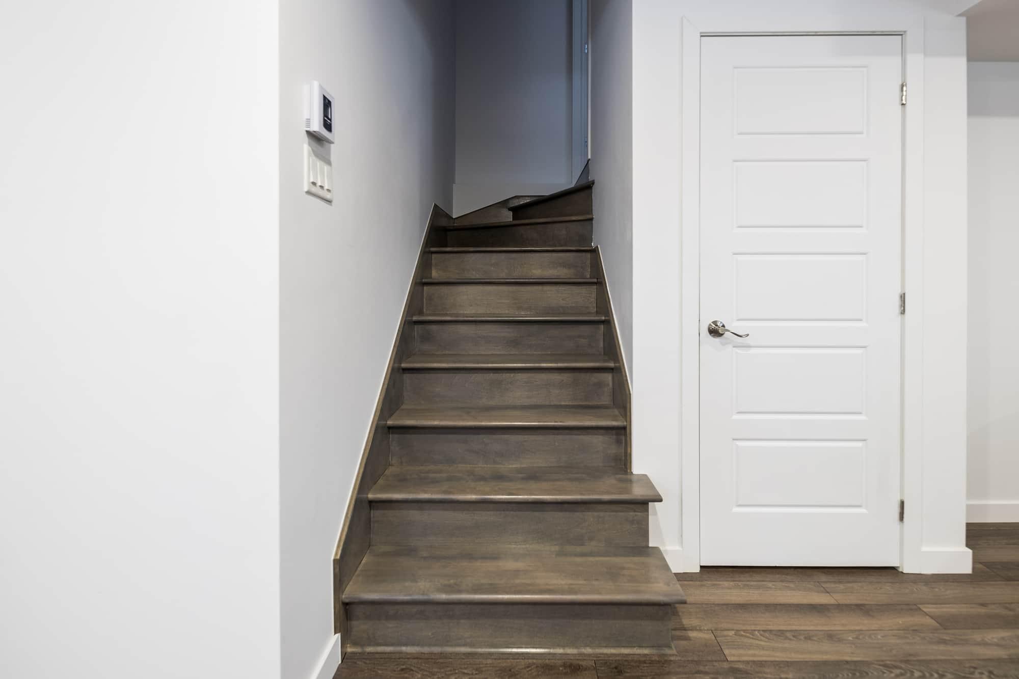 Stairway in a basement