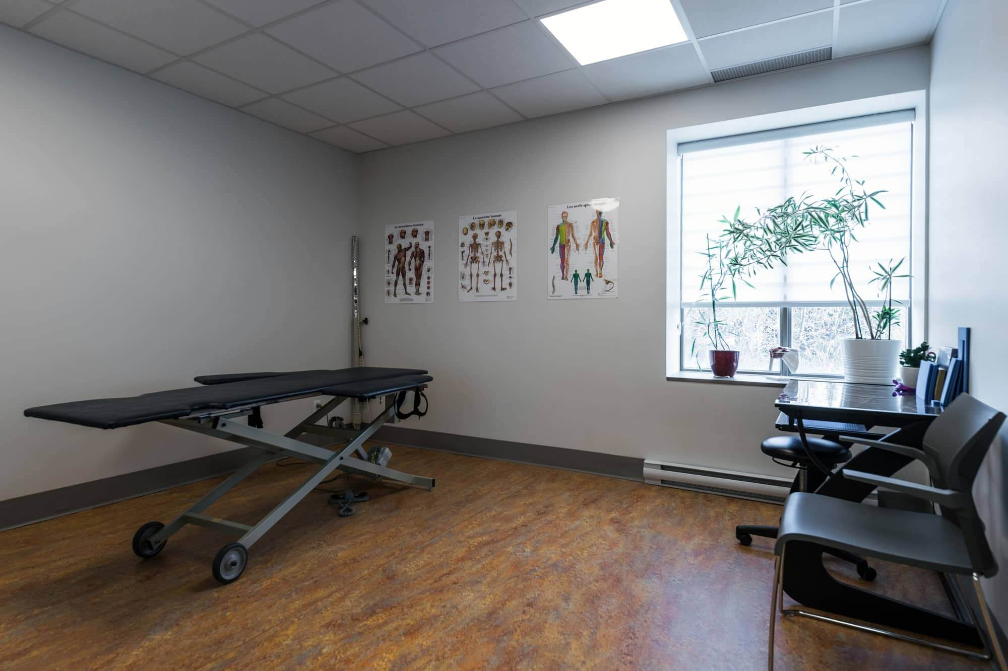 Treatment room in a physiotherapy clinic newly renovated