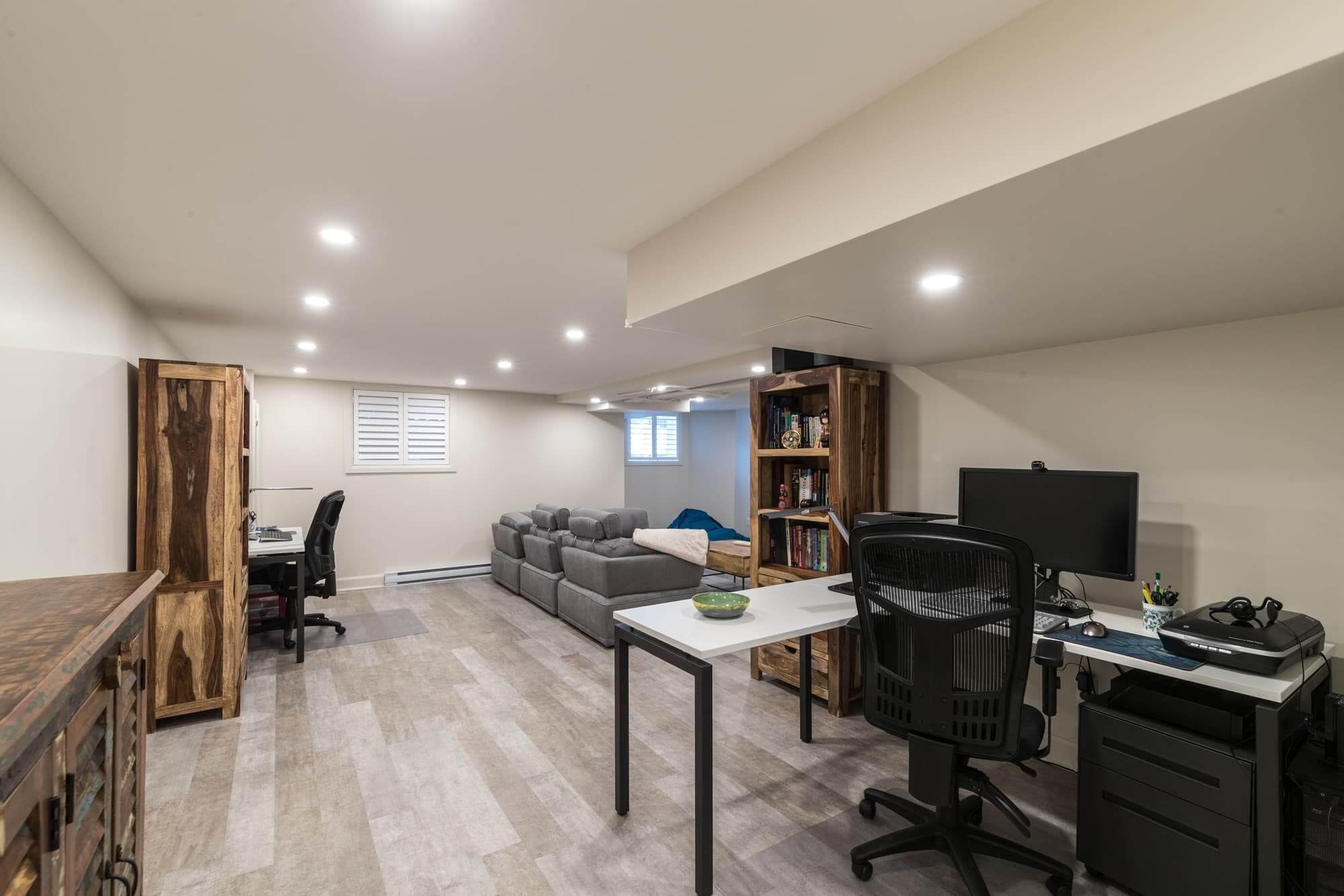 Beautiful Basement Renovation Project With Photos And The