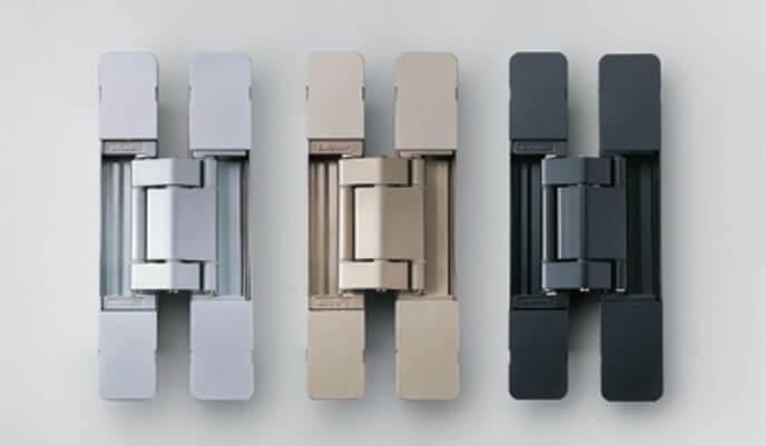 3 Pentures Sugatsune (argent, or et noir) - quincaillerie architecturale - SIDIM