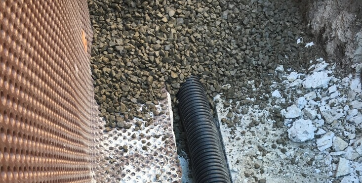 french drain montreal
