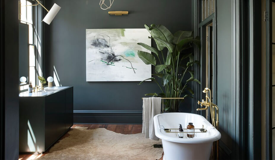 50 bathroom designs with pictures find the one for you - Dark blue bathroom ideas ...