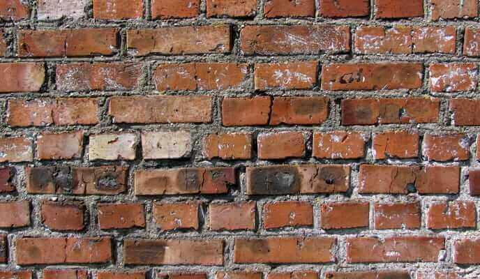 bulging brick wall