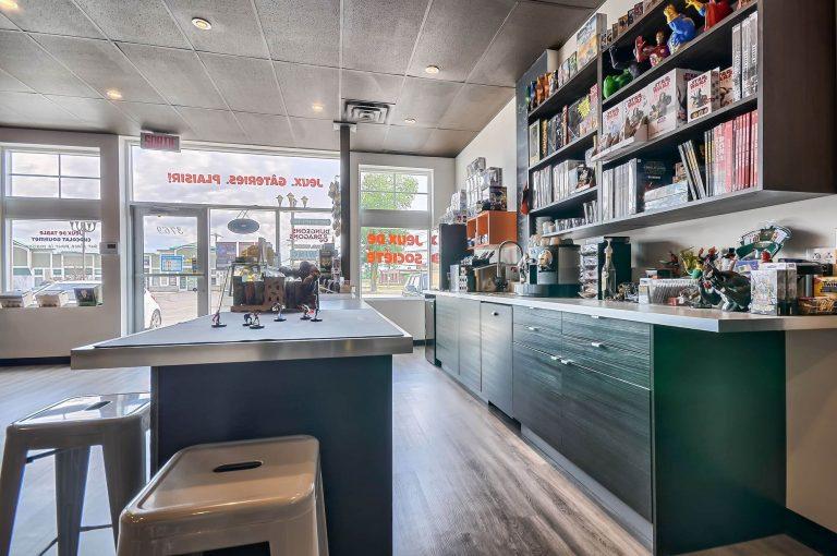 La boutique Tabletop | Aménagement d'un salon de jeux de société