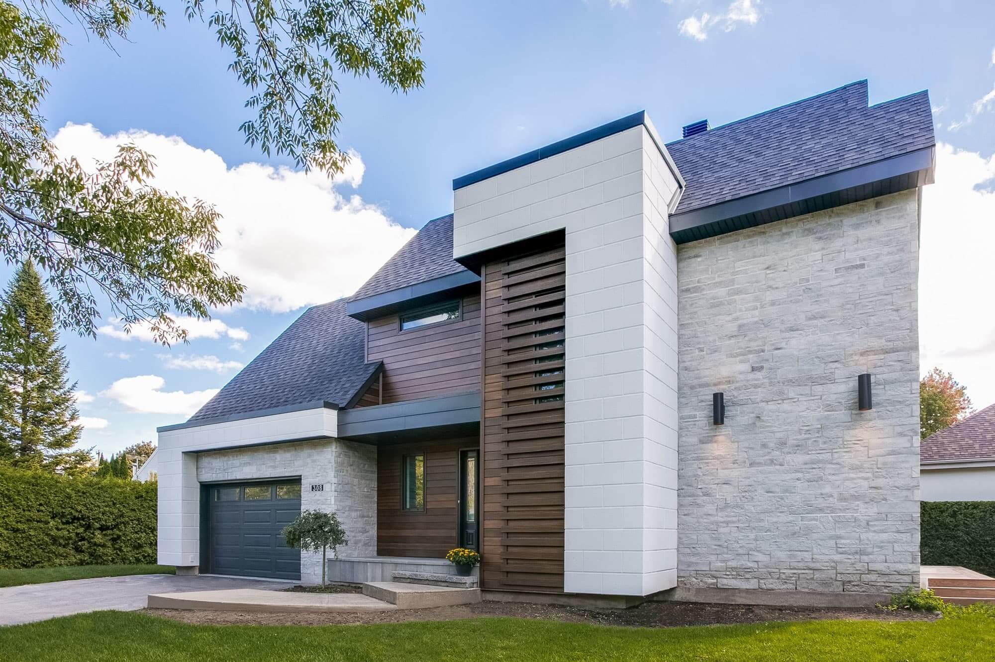 rénovation façade de maison de style moderne