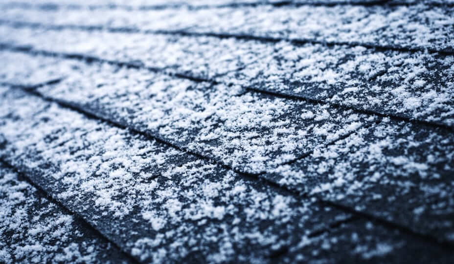 snow on shingles