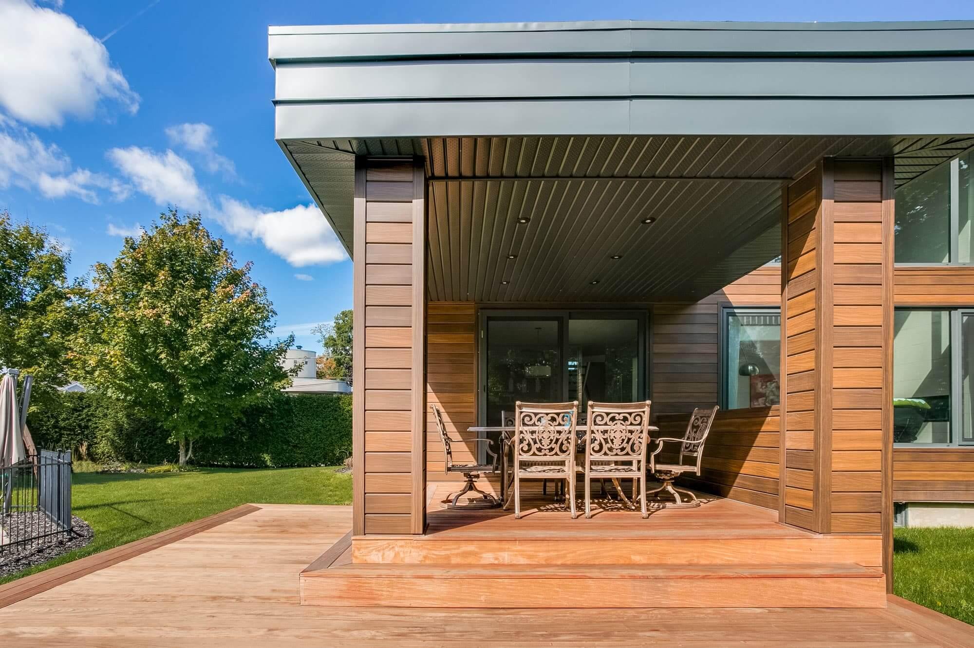 terrasse couverte - arrière maison