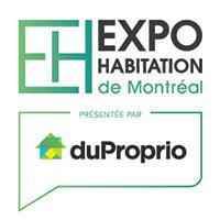 logo Salon Habitation de Montréal 2020 en collaboration avec DuProprio