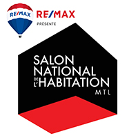 logo Salon National de l'Habitation de Montréal 2020 en collaboration avec Remax