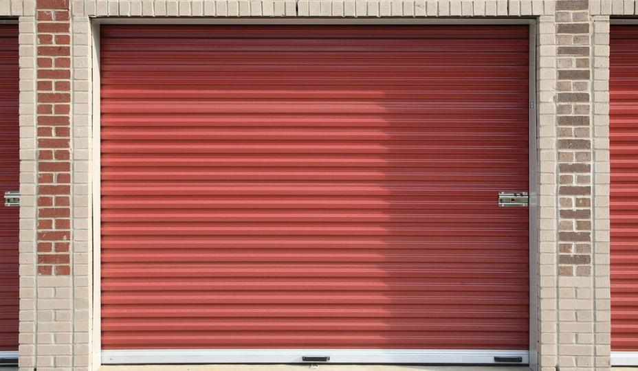porte de garage à enroulement d'entrepôt de rangement