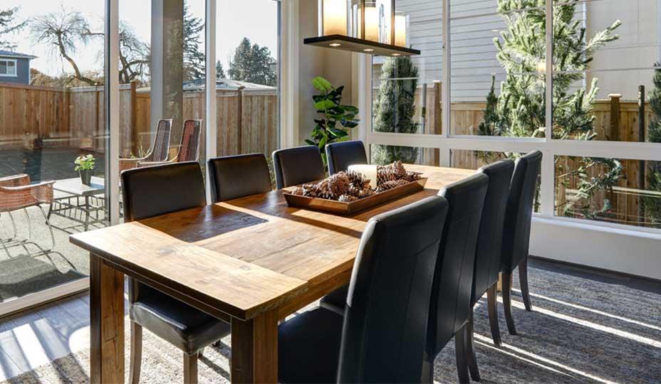 solarium avec table a diner