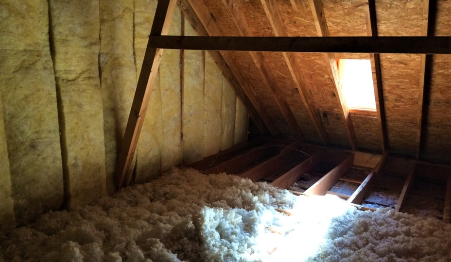 attic inspection with a skylight