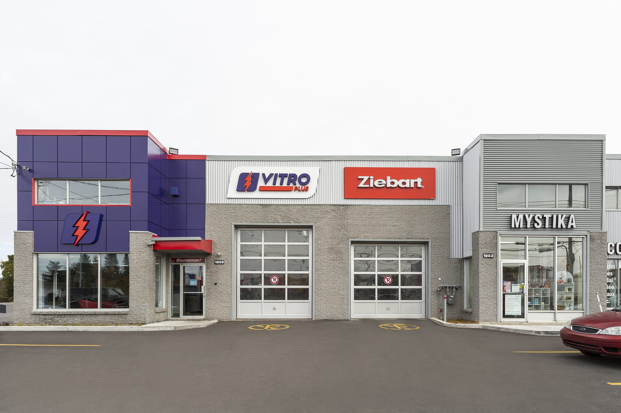 exterior renovation commercial building - Vitro Plus