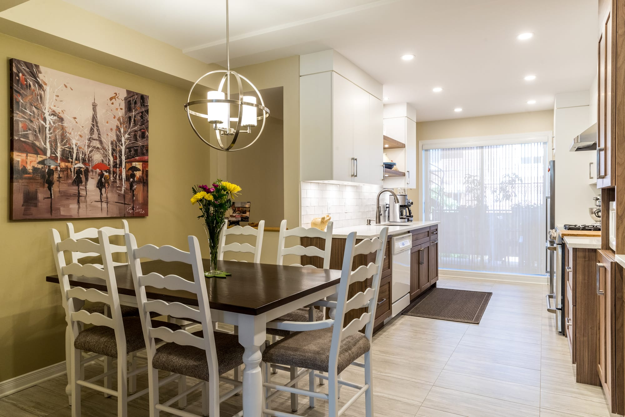 kitchen remodeling with a wooden table