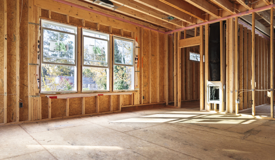 interieur de maison en autoconstruction