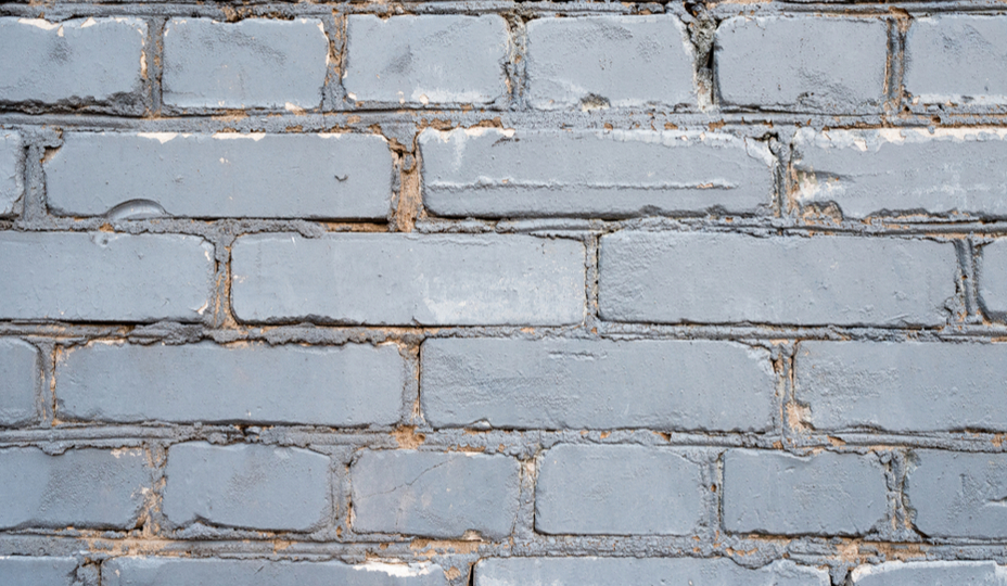 bricks painted grey
