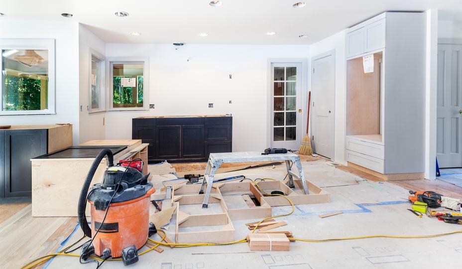 chantier de renovation de cuisine