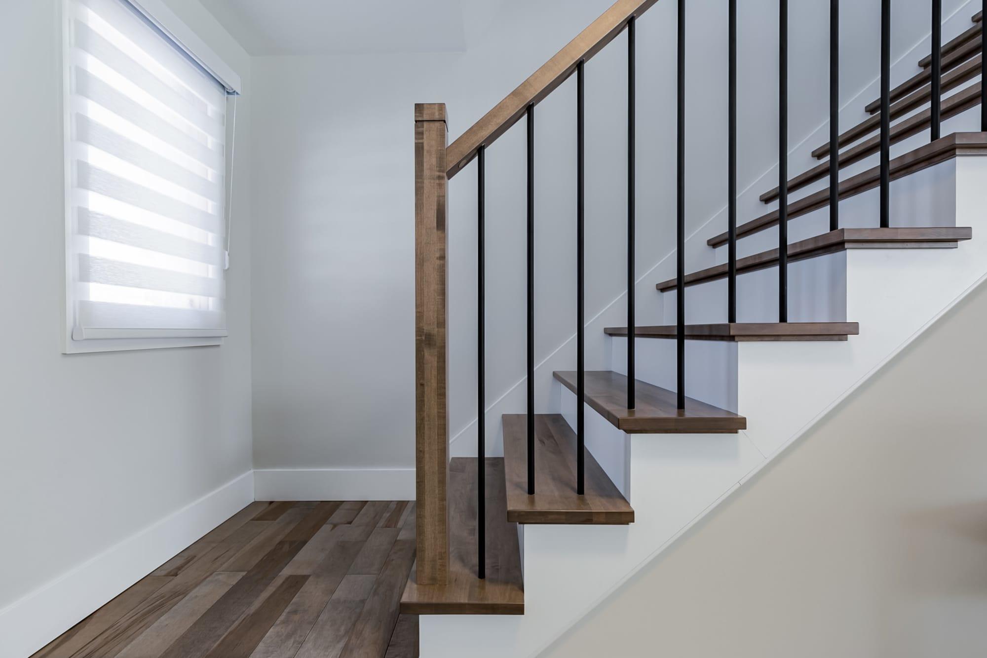 escalier interieur en bois
