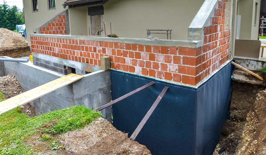 réparation d'une fondation de maison
