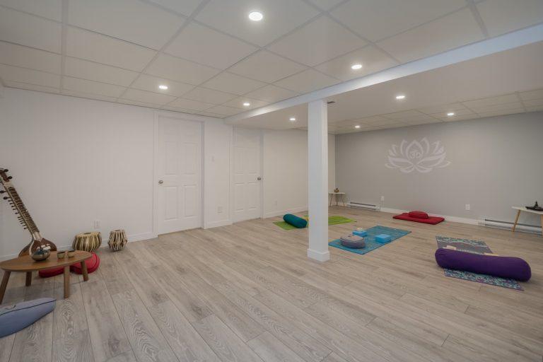 Lemaître | Finition de sous-sol avec studio de yoga