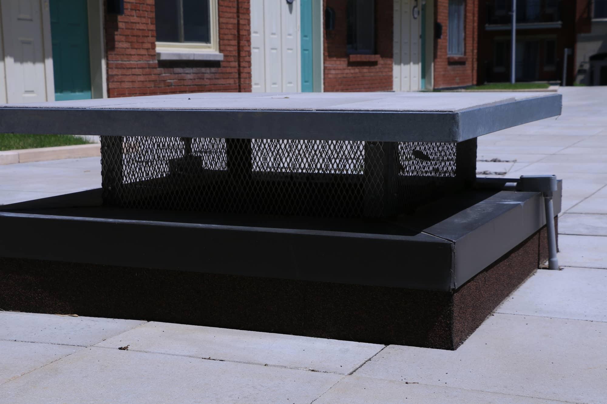 ventilation sur le toit-terrasse d'une copropriété