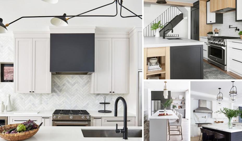cuisine moderne avec armoire de couleur neutre