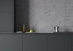 contemporary dark kitchen
