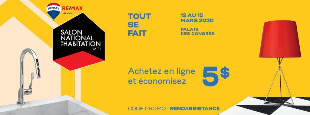 Salon National de l'Habitation de Montréal 2020 – Économisez 31% sur vos billets