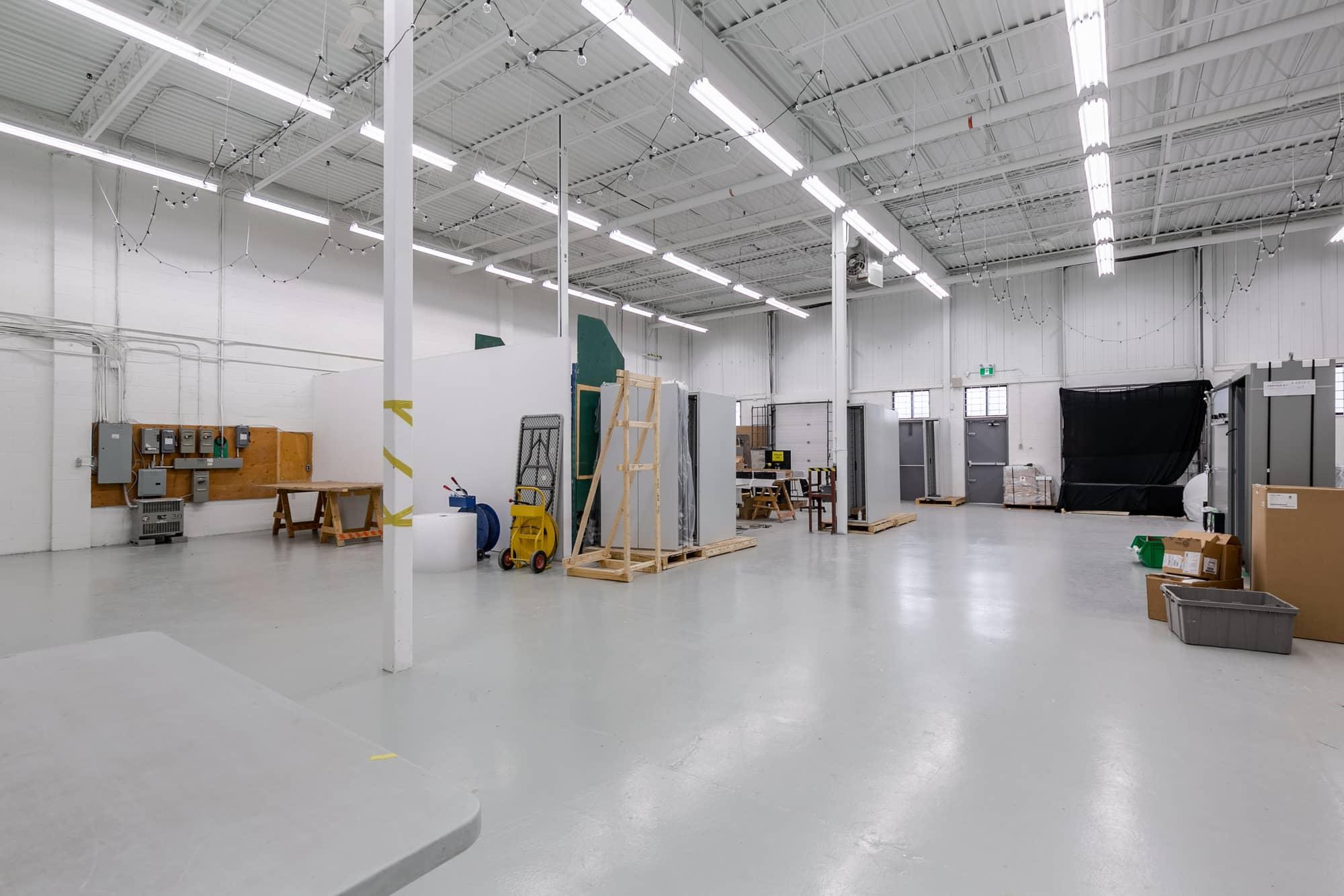warehouse with concrete floor