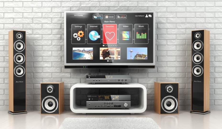 système de son pour cinéma maison avec téléviseur