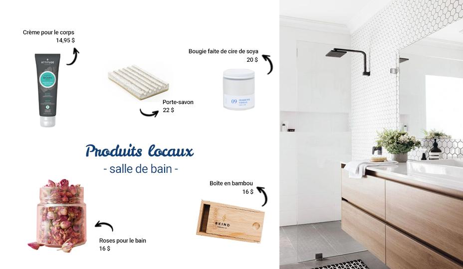 produits québécois pour la salle de bain