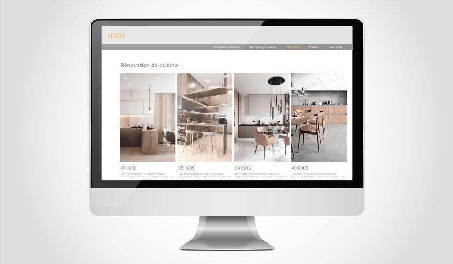 exemple de site web avec portfolio de renovations