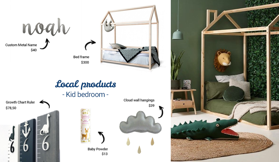 local products to decorate the kids bedroom
