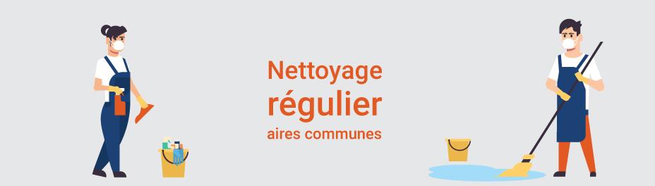 nettoyage régulier aires communes - mesures sanitaires chantiers constructions