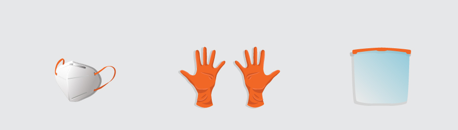 protective equipment for construction site - sanitary mesures