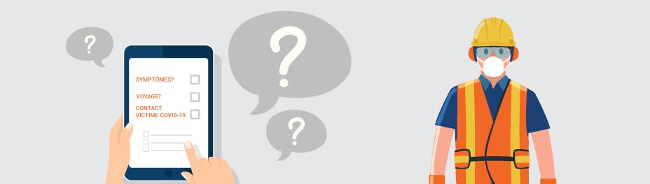 formulaire de question à poser en début de travail chantier de construction - mesures sanitaires