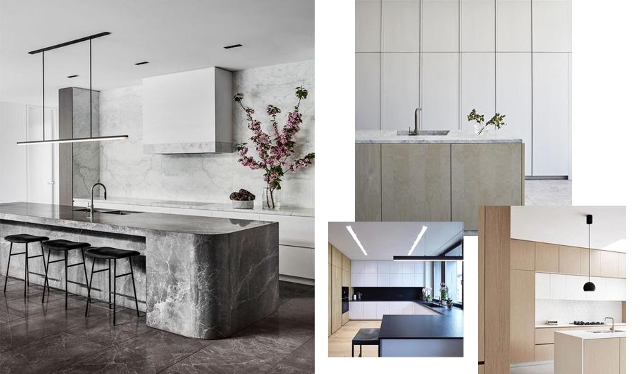 armoires de cuisine de style contemporain