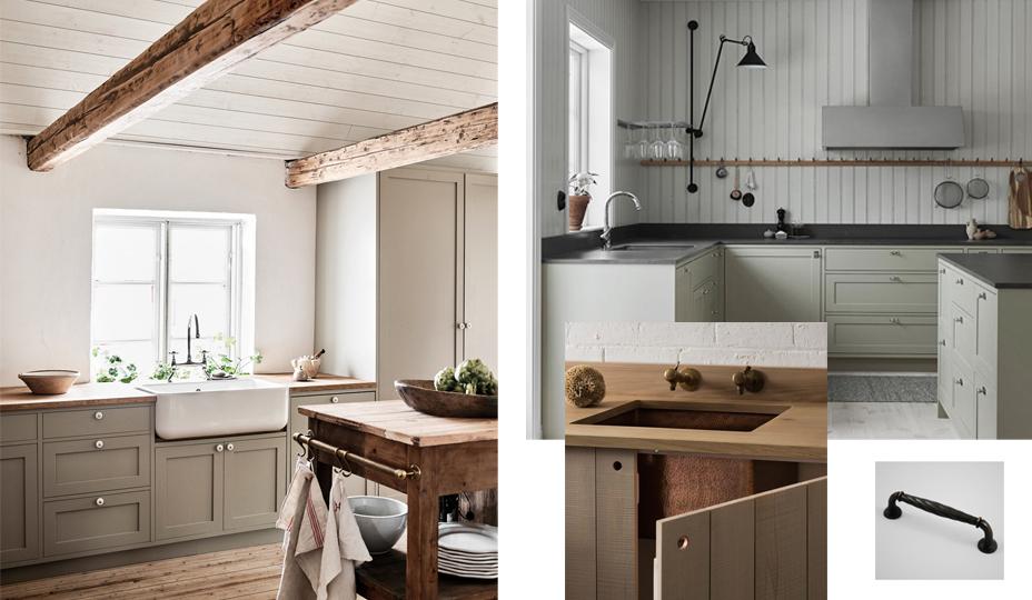 cuisine avec armoire de style patrimoniales et ancestrales