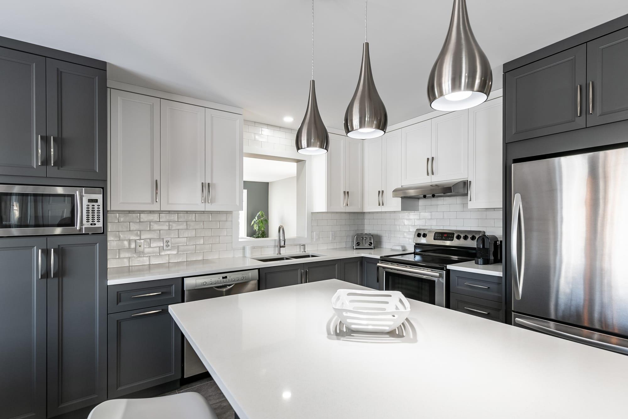 two tone modern kitchen