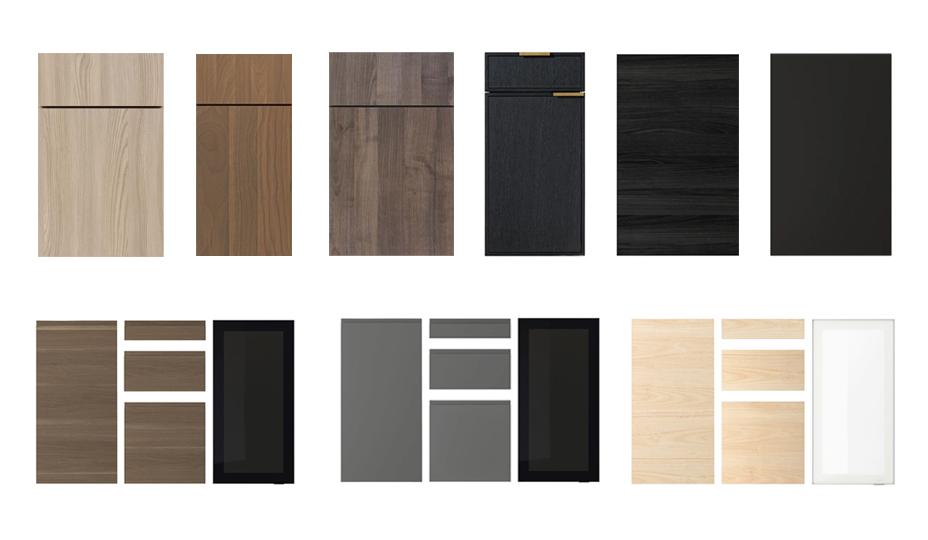 porte d'armoires pour cuisine contemporaine ou moderne
