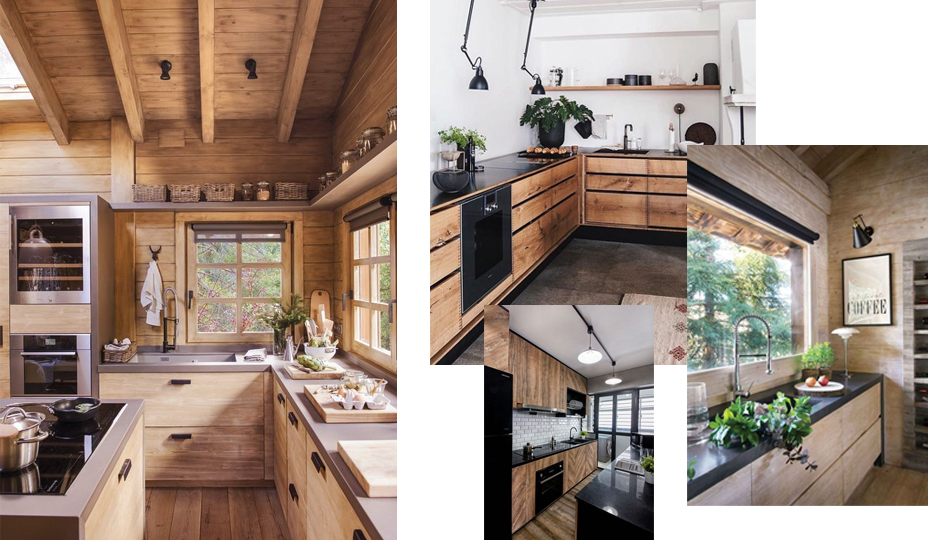 rustic cabin like kitchen
