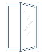 tilt-and-turn window vertical opening icon